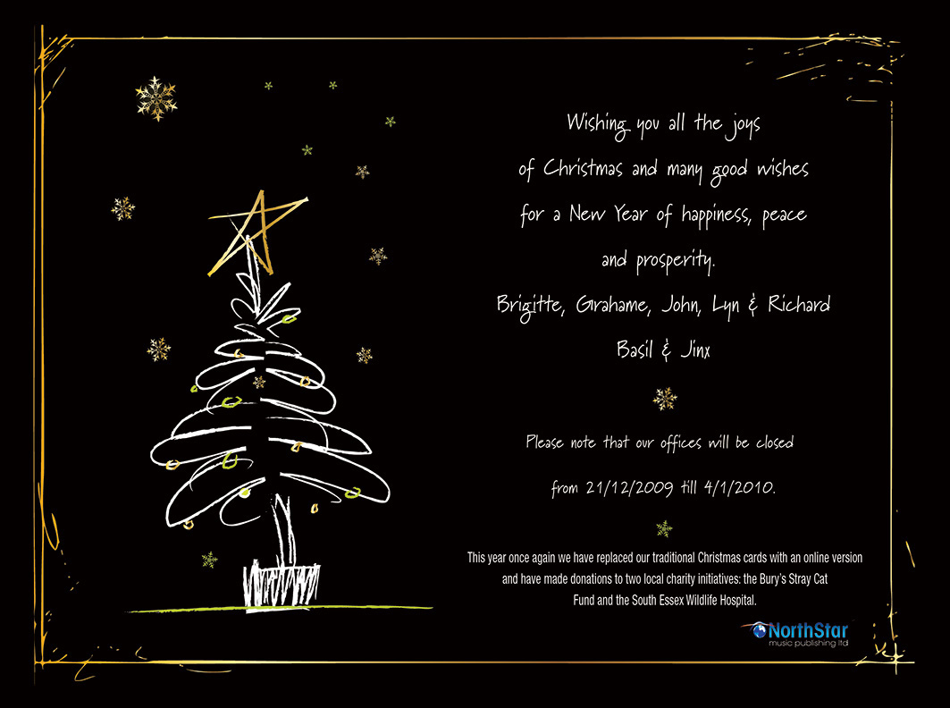 News from NorthStar Music - Merry Christmas from NorthStar Music